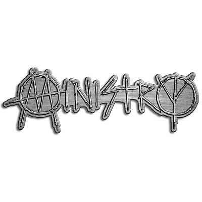 Ministry Logo Metal Pin Badge Official Industrial Band Merch New