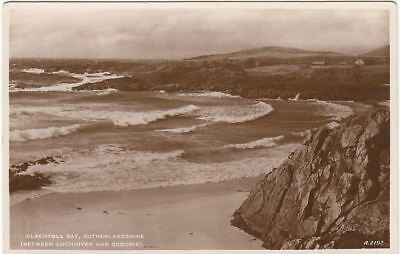 Vintage Postcard Of Clachtoll Bay Sutherlandshire Scotland Unposted.