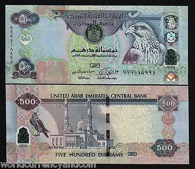 United Arab Emirates 500 Dirhams 2011 Replacement Polymer Hybrid Oryx Unc Note