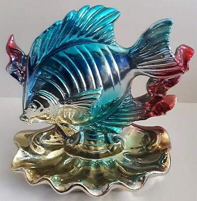 Retro Vintage Ceramic Lustre Fish Ornament / Astray / Jewellery tray- Kitsch
