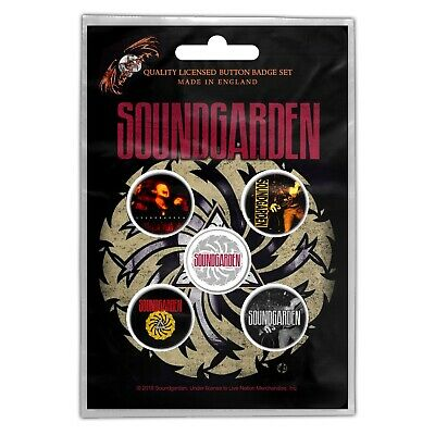 Soundgarden Superunkown 5 Button Set Badge Pack Metal Badges Official New