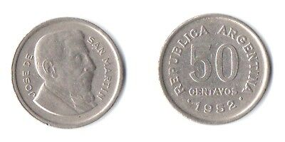 ARGENTINA - 1952 - 50 CENTAVOS - NICE LUSTRE - Please check scans before bidding