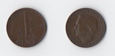 Netherlands - 1948 - Old 1 Cent Coin - Please Check Scan Carefully