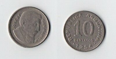 Argentina - 1954 -  10 Centavos - Nice Coin With Full Lustre.