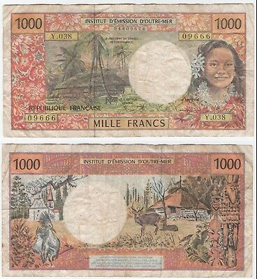 FRANCE 1000 FRANC - No.  Y.038 - 09666 - WELL CIRCULATED CONDITION.