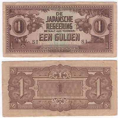 Japanese - 1 Gulden Bank Note  - Fair Circulated / Creases