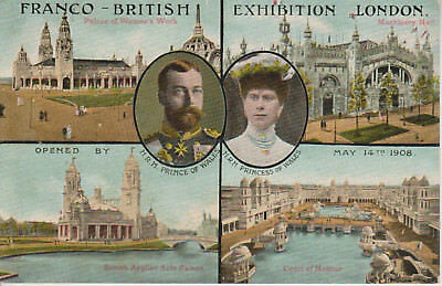 Olympiade 1908 London, Franco-British Exhibition, farbige Postkarte