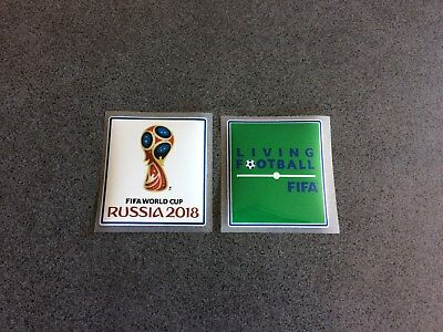 Lot De 2 Patchs Football Coupe Du Monde Russie 2018