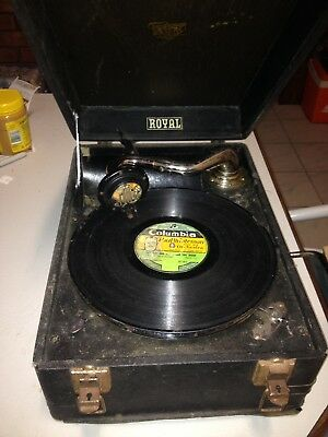 Antique Royal Jubilee Gramophone Vintage Record Played OFFERS