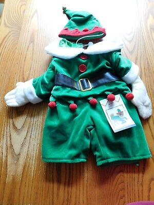 "Elf Dog Costume for Halloween & Christmas Size Large outfit & hat fits 18""-22"""
