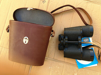 CARL ZISS JENA binoculars, German best lens, 10x50, coated lenses, leather case