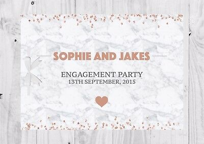 PERSONALISED Guest Book, Marble, Glitter, Engagement Party, Bridal Shower