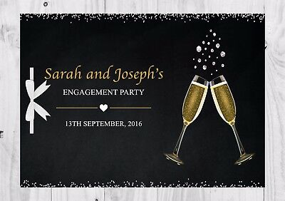 PERSONALISED Guest Book, Champagne, Glitter, Engagement Party, Bridal Shower