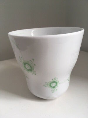 Royal Copenhagen Multi coloured elements thermo cup green discontinued