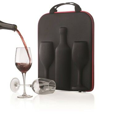 NEW Wine Carrier Holder Bag Swirl - XD Design Bottle Black Insulated 1 Cooler