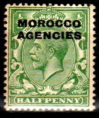 Morocco Agencies:KGV:1914:British Currency,1/2d,Green.Mint.