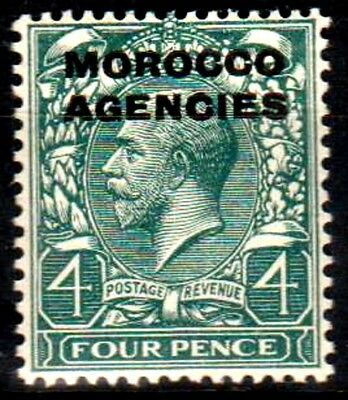 Morocco Agencies:KGV:1921:British Currency,4d, Grey-green.Mint.