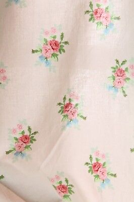 Floral Vintage Printed Cotton Fabric Bunting Cushion Lavender Sacks 2 Pieces