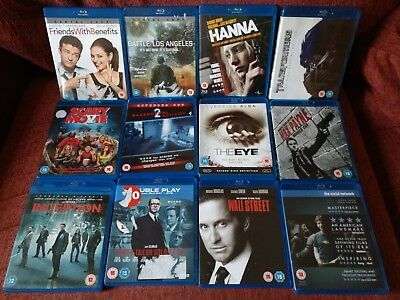 Joblot of 12 Blu-Ray movies (incl Hanna, The Eye, Transformers, Inception, etc)