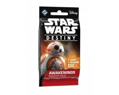 Star Wars Destiny: Awakenings Booster Pack with 5 Cards and 1 Die