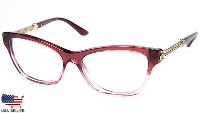 46248a139725 NEW VERSACE MOD 3214 5151 TR. CRANBERRY GRADIENT PINK EYEGLASSES 54-16-140