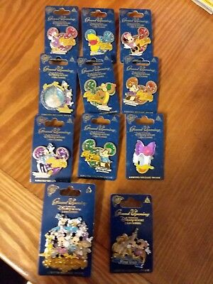 11 Disney Limited Edition Starter Collector Pins LE