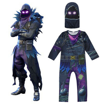 Halloween Karneval Kostüm Kinder Fortnite Account The Reaper Rabe RAVEN Outfit