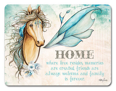Kitchen Cork Backed Placemats AND Coasters PEGASUS HORSE HOME Set of 6 New
