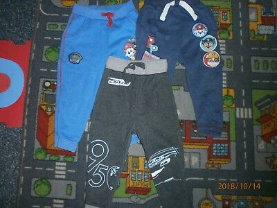 3 Pairs Boys Character Track Bottoms 2-3 Years