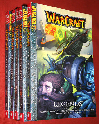 WarCraft: Legends (Knaak, Kim & weitere) Manga Band 1-5 (Komplett)