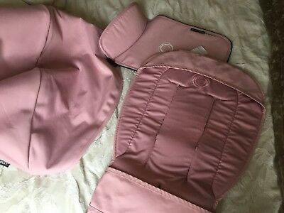 Bugaboo Cameleon 3 Light Pink Tailored Fabric Set Hood, Apron and Seat Liner