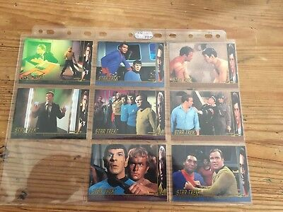 Complete Set Of Star Trek Character Log Trading Cards For TOS Season 2 By Skybox