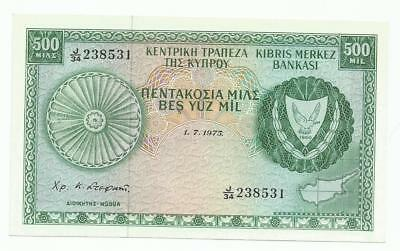 CYPRUS 500 MILS 1975 UNC !! A lovely banknote. NO RESERVE !!! $0.99!!!