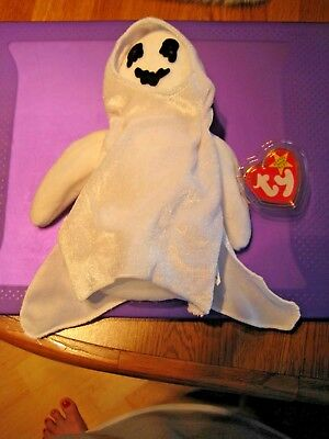 TY Beanie Babies Plush Sheets The Halloween Ghost 1999 w/Tags *