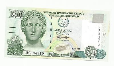 CYPRUS 10 Pounds 2005 UNC !! A lovely note in UNC