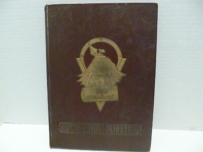 """US NAVY 31st NAVAL CONSTRUCTION BATTALION WW II CRUISE BOOK """"THE SPEARHEAD"""" HB"""