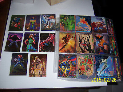 1993 Marvel Masterpieces base card set complete plus all 8 Spectra chase cards