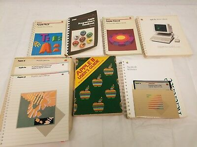 Apple ll Books Owners Users Manuals Disk Prodos lle Macintosh pilot Pascal llc