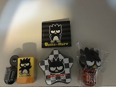 Sanrio Bad Badtz Maru Lot of 5 Rare New Sealed Items Stickers Lip Gloss Stamps