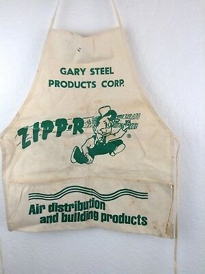 Vintage Gary steel products corp apron work apron