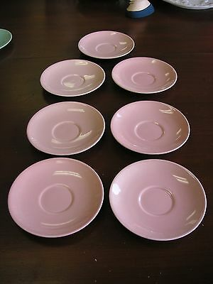 Set 7 LuRay Pastels Pink Saucers Good Condition No Chips AS SEEN IN THE PHOTOS