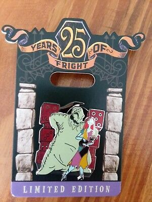 Disney Nightmare Before Christmas 25 Years Of Fright Oogie Boogie Sally LE