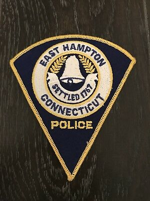 East Hampton Ct Connecticut Police Department Officer Patch Triangle
