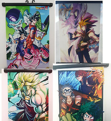 Poster/ Wandrolle in Animestyle (Dragonball/ Yugioh/ Hero Akademi/ One Piece)