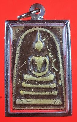 Nice in case!!! Phra Somdej Yantra,Genuine,Thai Amulet,Rich and Luck.