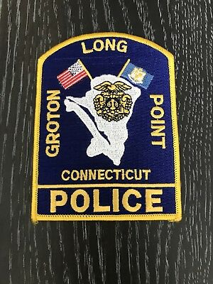 Groton Long Point Ct Connecticut Police Department Officer Patch Current Issue