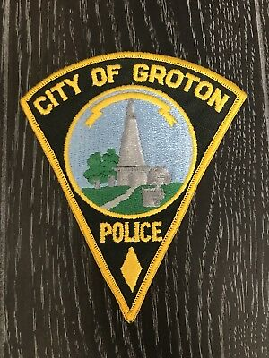 Groton Ct Connecticut Police Department Officer Patch Old Triangle
