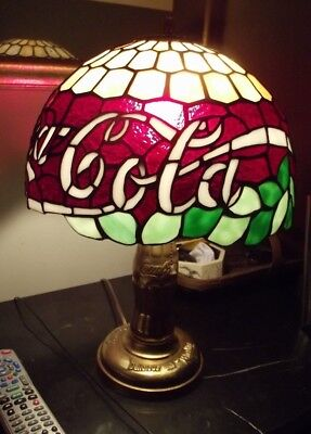 Antique Original Coke Cola Stained Glass Dale Tiffany Lamp