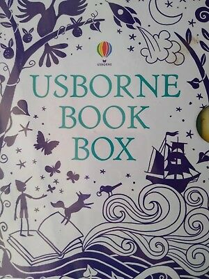Usborne book box. A box containing 10 books. Recommended age is 3-5.