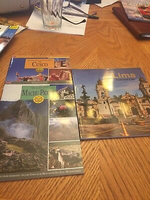 Lot Of 3 Books On Peru